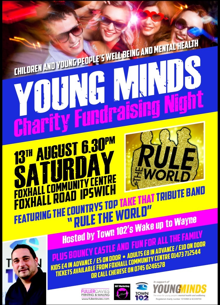 Charity fundraising event for Young Minds - Suffolk User Forum