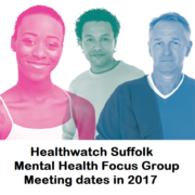 Mental Health Focus Group meeting dates for 2017