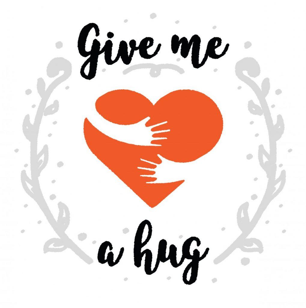 Hugging people we love in social distancing